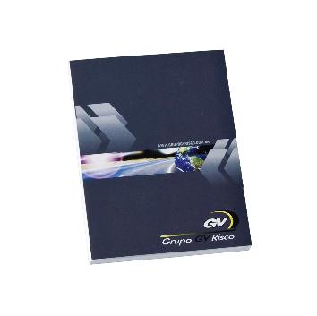 Caderneta Capa/Contracapa 105 x 150mm - (mínimo 300). Solicitar a quantidade de folhas e de cores para impressão