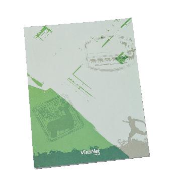 Caderneta Capa/Contracapa 150 x 210mm - (mínimo 300). Solicitar a quantidade de folhas e de cores para impressão