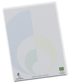 Caderneta sem Capa 75 x 105mm - (mínimo 300). Solicitar a quantidade de folhas e de cores para impressão