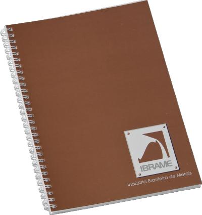 Caderno Wire-O 210 x 280mm - (mínimo 300). Solicitar a quantidade de folhas e de cores para impressão