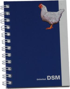 Caderno Wire-O 75 x 105mm - (mínimo 300). Solicitar a quantidade de folhas e de cores para impressão