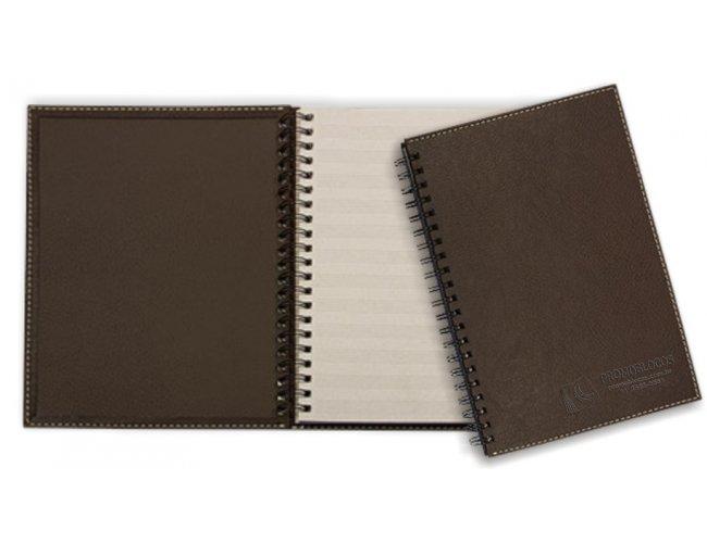 Caderno ou Agenda Permanente em Couro CC0333/CC0334 - (mínimo 150)